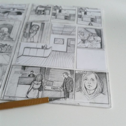 Rough page layout from Anya.